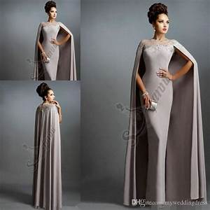 robe rouge longue de soiree long gray formal evening With robe cape longue