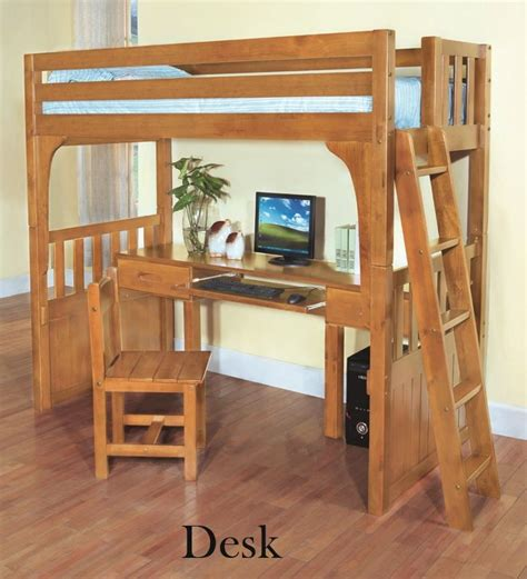 double bunk bed with desk discovery world furniture twin over desk honey convertible