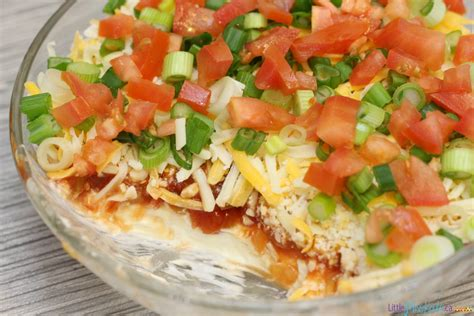 dips cuisine easy layered nacho dip recipe bowl food ideas