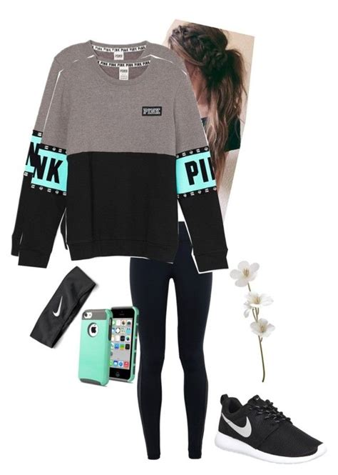 U0026quot;Sportyu0026quot; by seafoam-volleyball liked on Polyvore featuring NIKE womenu0026#39;s clothing women female ...