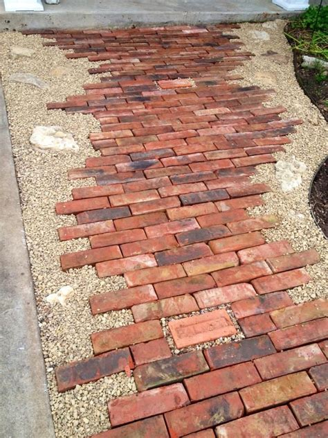 awesome bricks pea gravel and rocks this pathway