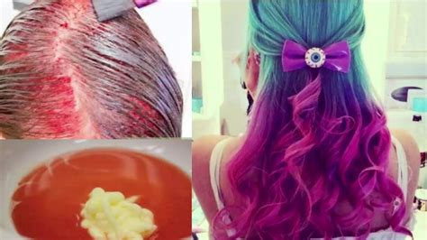 How To Dye Dark Hair With Kool Aid Youtube