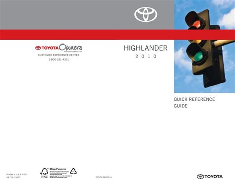 toyota highlander owners manual  give