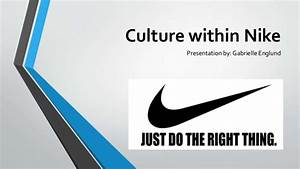 Organizational Structure Of A Business Culture Within Nike