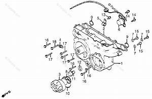 Honda Motorcycle 1983 Oem Parts Diagram For Transmission Cover    Water Pump