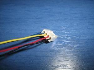 pc fan wiring blacknegative red positive yellow