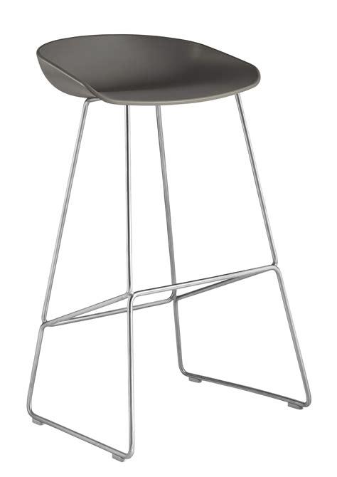 piètement 120 cm luge gris tabouret de bar about a stool aas 38 h 75 cm piètement