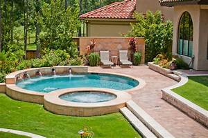 Backyard designs with pool pool mediterranean with for Beautiful pool designs