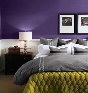 beautiful chambre a coucher gris et mauve photos With chambre violet et gris