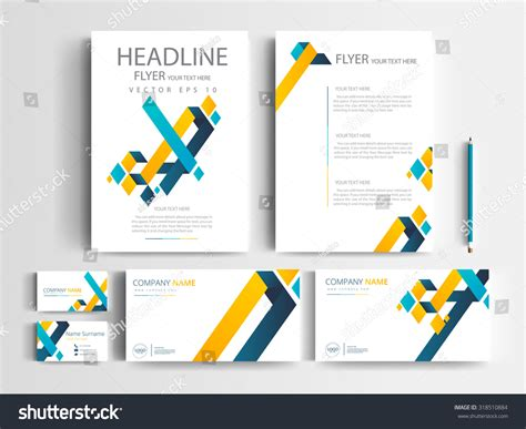 Corporate Identity Design Set Templates Modern Stock Visiting Card Folders Business File Folder Best Font For Logo Black Holders Education What Is A Microsoft Word Square Free Psd