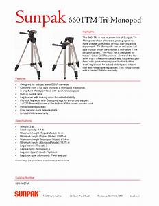 Tri-monopod 620-060tm Manuals