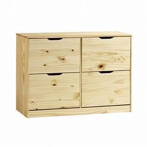 Meuble De Rangement Pas Cher : meuble rangement chaussures basil pin lasur blanc ~ Dailycaller-alerts.com Idées de Décoration