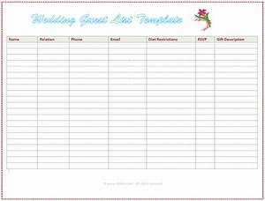 7 free wedding guest list templates and managers With wedding invitation list maker