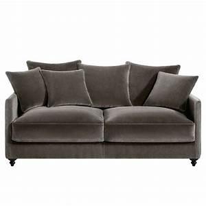 Canapé Lit Velours : canap lit velours rouge royal sofa id e de canap et meuble maison ~ Teatrodelosmanantiales.com Idées de Décoration