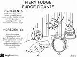 Coloring Fudge Brighter Bites Corner Fiery Sheet Outlooks Choices Doodle Sheets sketch template