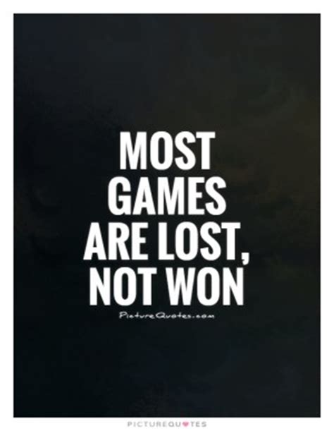 Losing Game Quotes Sports