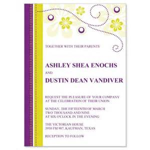 yellow wedding invitations purple yellow wedding invitation templates plum do it yourself wedding invitations