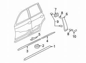 Volkswagen Touareg Exterior Molding Clip  Plate  Scuff