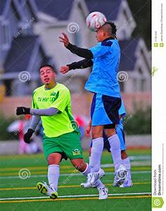 Mens Club Soccer Head Ball Impact. Editorial Stock Photo ...