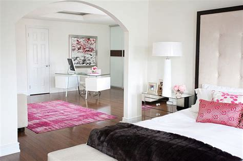 black pink and white bedroom pink inspiration decorating your home with pink 18350 | white bedroom with pink accents
