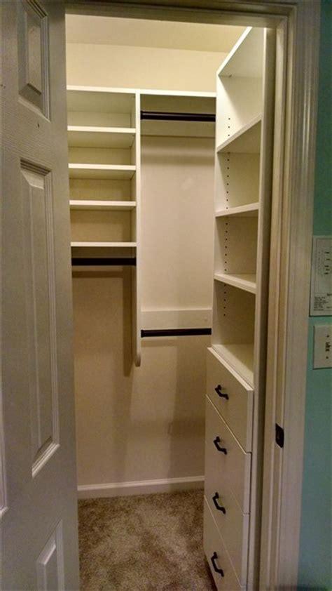 walk in closet small bedroom atlanta closet amp storage solutions simple closets 20073 | Atlanta Closet Small Walk in with Drawers Right