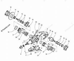 Arctic Cat Atv 2000 Oem Parts Diagram For Rear Axle Assy