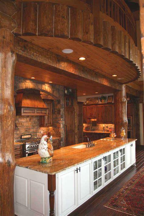 cabin kitchen island log cabin kitchens bar log home kitchens islands log home 1907