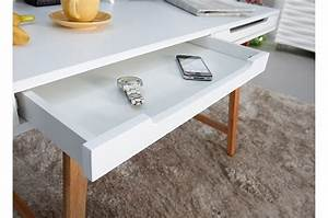 Bureau Scandinave Blanc : bureau scandinave blanc et bois cbc meubles ~ Teatrodelosmanantiales.com Idées de Décoration