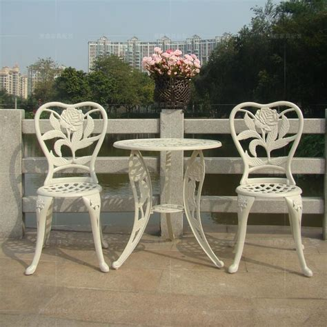 white aluminum patio furniture sets three cast aluminum chairs balcony chairs minimalist