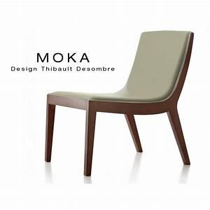 fauteuil lounge design moka structure bois massif assise With fauteuil cuir bois design