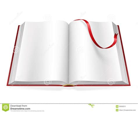 Open Book With Blank Pages Stock Image
