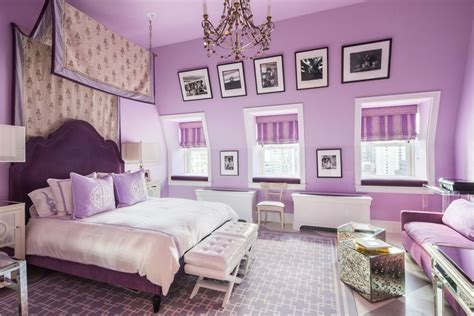 ideas for purple bedroom 25 gorgeous purple bedroom ideas designing idea 15597 | lovely purple bedroom with purple bed frame white furniture and chandelier