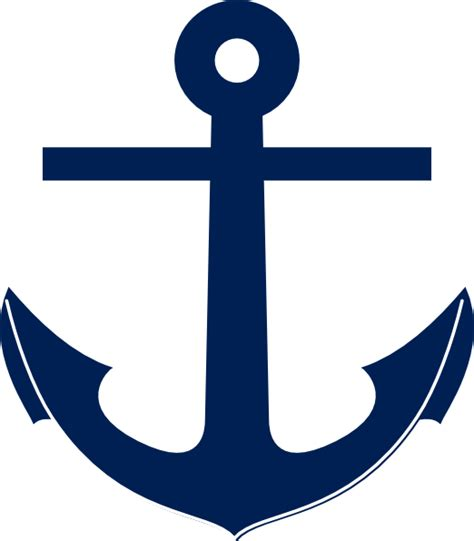 Anchor Clip Navy Blue Anchor Clip At Clker Vector Clip