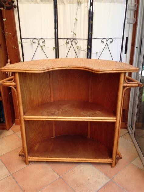 meuble bar vintage en rotin luckyfind