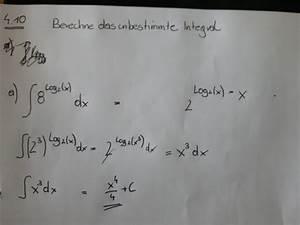 Log2 Berechnen : funktion integralrechnung int 8 log 2 x dx x 4 4 c bitte um kontrolle mathelounge ~ Themetempest.com Abrechnung