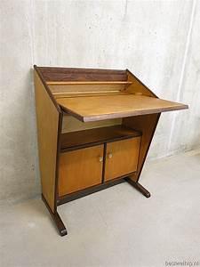 Bureau Secretaire Vintage : mid century vintage design secretaire bureau kast cabinet ~ Teatrodelosmanantiales.com Idées de Décoration