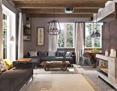 Studio Apartment Design With Industrial Decor Looks So. Decorate Corner Of Living Room. Living Room Corner Cabinets. Corner Display Cabinets Living Room. Colders Living Room Furniture