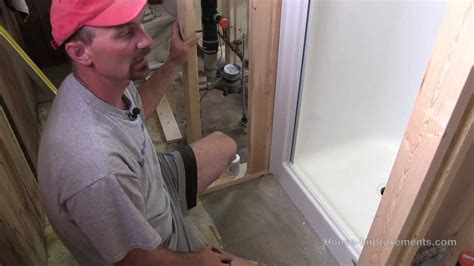 how to install a shower pan how to install a fiberglass shower