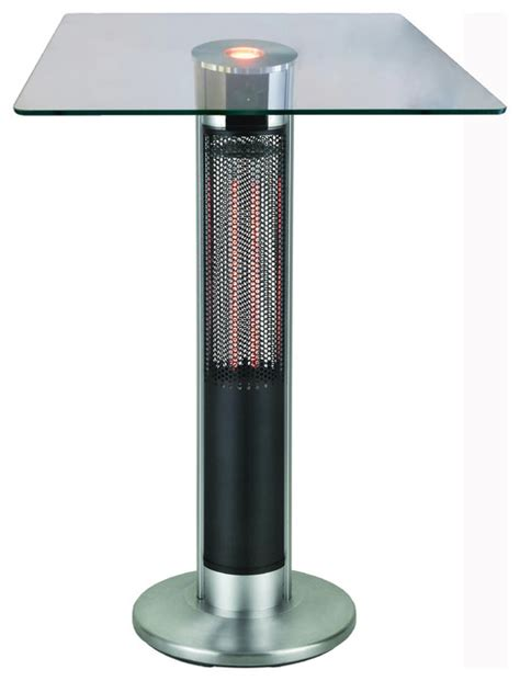 outdoor leisure bistro table patio heater energ infrared electric outdoor heater bar table