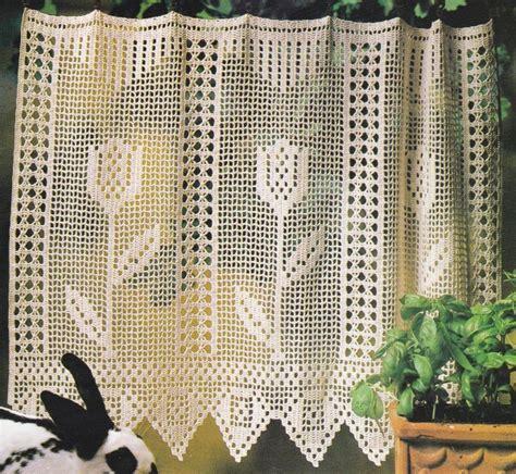 rideau au crochet brise vue quot les tulipes quot tutoriel gratuit le de crochet et tricot d