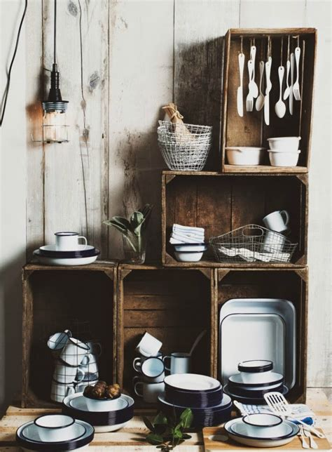 In Kitchen Ideas by 15 Wooden Crates In Kitchen A Brilliant Idea To Add