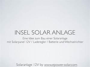 Solaranlage Mit Batterie : solaranlage mit solarpanel 12v ~ Whattoseeinmadrid.com Haus und Dekorationen