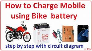 How To Make Bike Battery Mobile Charger