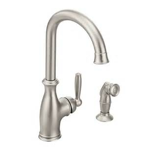 high arc kitchen faucet reviews shop moen brantford spot resist stainless 1 handle high arc deck mount kitchen faucet at lowes