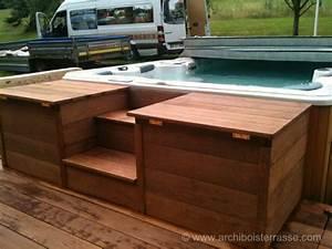 Spa Bois Exterieur : spa et jacuzzi ext rieur avec terrasse bois pare vue et ~ Premium-room.com Idées de Décoration