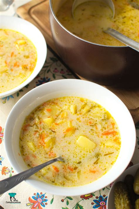 Zupa ogórkowa | Cooking recipes, Cooking, Culinary recipes