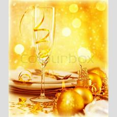 Picture Of Luxury Festive Table   Stock Photo Colourbox