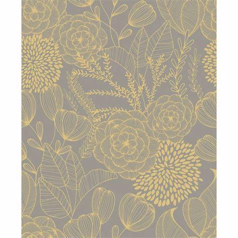 alannah taupe botanical wallpaper