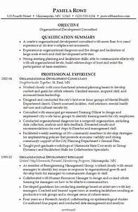 Resume Organizational Development Consultant