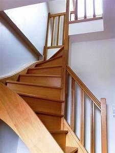 Escalier Bois Quart Tournant : escalier bois rampe bois ~ Farleysfitness.com Idées de Décoration